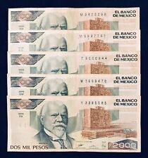 Mexico Pesos Paper Currency Lot Circulated