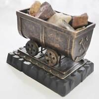 Minenlore Metalguß bronciert auf schwerem schwarzen Sockel 9 cm x 13 cm