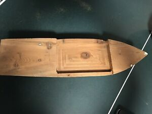"Vintage Hand-Made Primitive 24"" Boat Hull"
