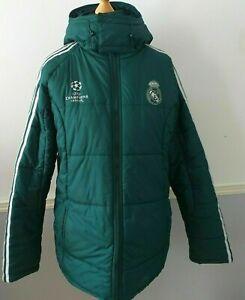 Adidas Real Madrid Champions League Jacket Detachable Hood ~ UK Size 42/44