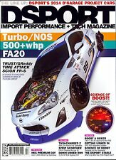 DSPORT April 2014 Import Performance & Tech Magazine Science of Boost+Turbo/NOS