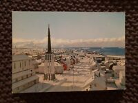 View of the Town With the Cathedral, Norway - Vintage Postcard