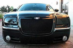 Fits 05-10 Chrysler 300C SRT-8 GTS Smoke Acrylic Headlight Covers Pair GT0662S