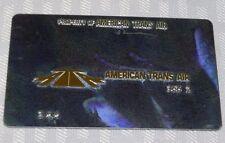 Rare Vintage American Trans Air Metal Ticket Validation Plate Travel Agency