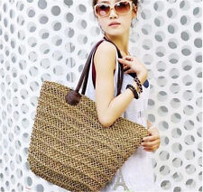 Purses Shoulder Hand Tote Bags Straw Wicker Rattan Beach Woven Wood Rattan New