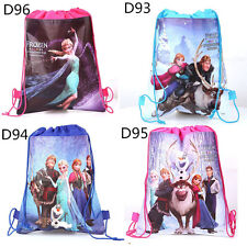 1pcs Disney Backpack Frozen Swimming Clothes Environmental PE Toy Drawstring Bag