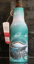 Philadelphia Eagles Koozie Bottle Zipper NFL Coolie Football Beer Cooler Green