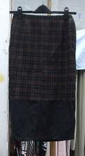 Designer Joseph Gorgeous Classic Tweed Effect Skirt Wide Black Hem UK 10-12
