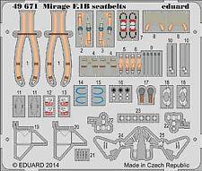 Eduard 1/48 Dassault Mirage F.1B cinture di sicurezza # 49671