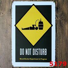 Metal Tin Sign do not disturb Decor Bar Pub Home Vintage Retro Poster Cafe ART