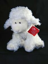 """Russ Baasley Lamb White Plush Stuffed Toy Animal 8"""" New with Tags"""