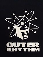 OUTER RHYTHM T-SHIRT WARP RECORDS MOBY LEFTFIELD APHEX TWIN BELTRAM MAN MACHINE