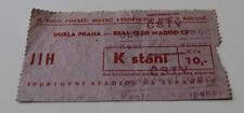 Ticket for collectors EC Dukla Praga Real Madrid 1964 Czech Spain