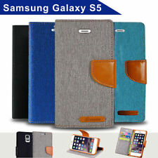 Canvas Mobile Phone Wallet Cases for Samsung Galaxy S5