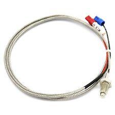 K-Typ Thermoelement Temperatursonde Sensor Hitzebeständig 0,5M 100cm 0-800 Grad