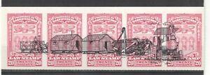 Canada Saskatchewan  RARE 1938 5 Diff. $20 Law Stamps with Train Overprint MNH