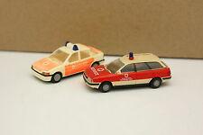 Praline 1/87 HO - Lot de 2 Ford Escort + Audi 80 Break Pompiers Feuerwehr