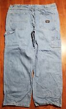 Smith's Work Wear Relaxed Carpenter Blue Jeans 42x30 1906 Demin Stains* B855