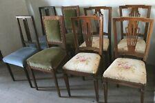 12 sedie vintage, art decò, in legno, da restaurare