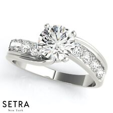 Bypass Style Diamond Engagement Ring