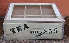Industrial style Wood / Steel Trim Tea Box  **BRAND NEW**