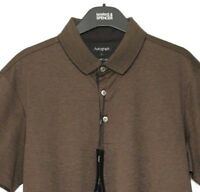 M&S Mens Polo Shirt Brown Supima Cotton S BNWT Marks Autograph