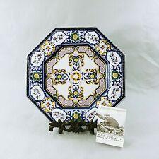 Wall Plate Decorative Floral Geometric Design Octagonal 10 Inch
