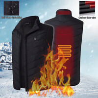 Electric Vest Heated Cloth Jacket USB Warm Up Heating Pad Body Winter Warmer NEW