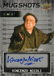 Upper Deck Alien 3 Auto Autograph Mug Shots Vincenzo Nicoli as Alan Jude