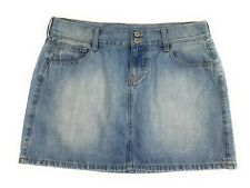 Old Navy Light Wash Distressed Flat Front 100% Cotton Mini Skirt Women's 6R