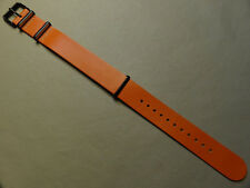Mens Easy ONE PIECE 20mm LONG Timex T2P914 Watch Band Orange Weekender Fairfield