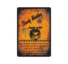 """Schild Hinweisschild Hinweis """"Bloody Wedding Human Spider"""" Spinne Monster Scare"""