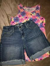 Girls Cat and Jack L-10/12 Shorts and Tank Top, Gently used