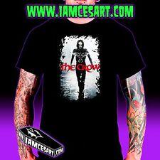 The Crow Men's 100% Cotton DTG Tee movie Goth Halloween Dark scary iamcesart
