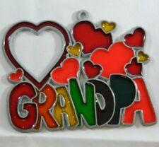 GRANDPA Heart Sun Catcher Ornament Window Decoration Valentines Day Gift Love
