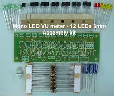 Mono indicatore LED VU METER 12x 3mm LED SOUND METER-assemblaggio KIT circuito
