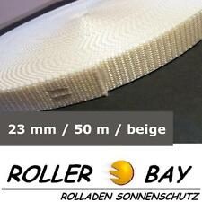 50 m Maxi Rolladen Gurt beige Rolladengurt Gurtband 23 mm breit Rollladen