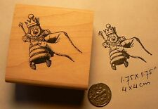 Alice in wonderland hand with king chess rubber stamp P50