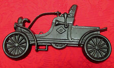 VINTAGE PAINTED CAST ALUM OLD FASHIONED CAR CURVED DASH WALL DECOR PLAQUE USA