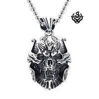 "Silver pendant skull stainless steel movie Replica ZARUBA garo necklace 60cm 24"""