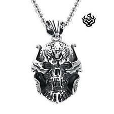 Silver pendant skull stainless steel Replica ZARUBA garo necklace