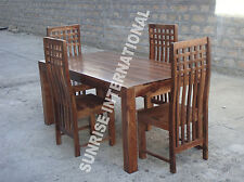 Stylish Wooden Dining table with 4 chairs furniture set