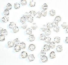 SCB311f CRYSTAL Clear 4mm Xilion Faceted Bicone Swarovski Crystal Beads 48/pkg