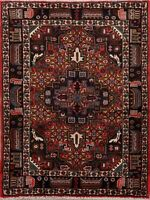 Traditional Geometric Malayer Area Rug Hand-Knotted Tribal Oriental Carpet 4x5