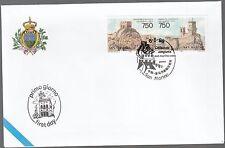 BUSTA POSTE di San Marino Emissione Congiunta con CINA 1996 FDC First Day Cover