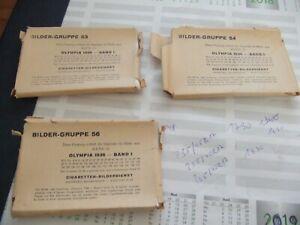 Sammelkarten klein Olympia 1936 - Band I Bildergruppe 53+54+56