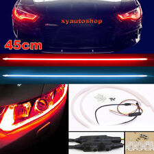 2X Flexible Tube Guide LED Head Lamp Car Soft DRL Daytime Running Light 12V 45CM