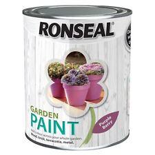 Ronseal 2.5 Litre Garden Paint Rainproof Exterior Wood Metal Brick Purple Berry