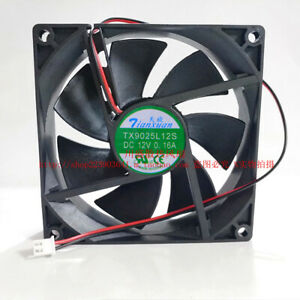 NEW Tianxuan TX9025L12S DC12V 0.16A 2-Pin 9CM 9025 90mm*25mm cooling fan