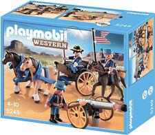 PLAYMOBIL 5249 Soldados Americanos con Cañón - Western Oeste Soldier NUEVO